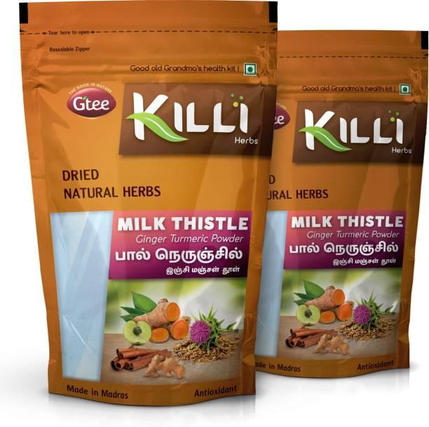 KILLI Milk Thistle Ginger Turmeric Cinnamon Amla Powder, 100g (Pack of 2)