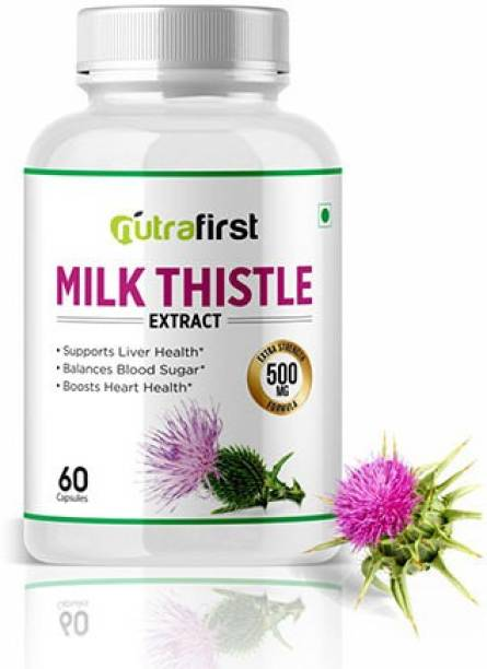 NutraFirst Milk Thistle (Silymarin) Capsules for Liver Detox and Cleansing - 1B