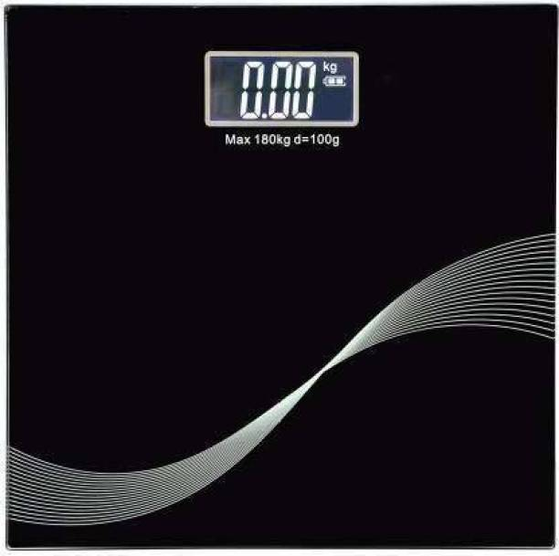 Glancing Digital Weighing Scale Electronic Weight Machine For Human Body 180Kg Capacity Thick Tempered Glass & LCD Display Weighing Scale
