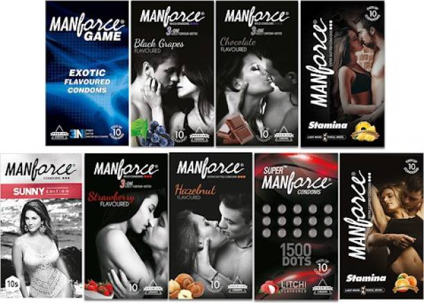 MANFORCE Combo Pack,Assorted Flavours Condom