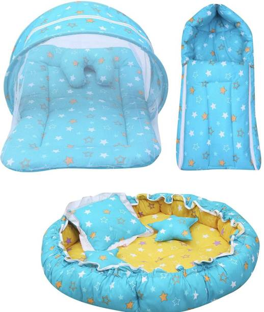 Fareto New Born Baby Daily Essentail Bedding Combo Pack(0-6 Months)(Total Items: 11)