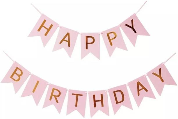 Rhythm Happy Birthday Card PINK Board Banner for Birthday Celebration of Kids and Adults FOR PARTY DECORATION BIRTHDAY DECORATION Banner