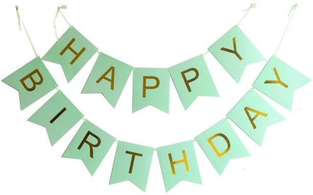 Rhythm Happy Birthday Card GREEN Board Banner for Birthday Celebration of Kids and Adults FOR PARTY DECORATION BIRTHDAY DECORATION Banner