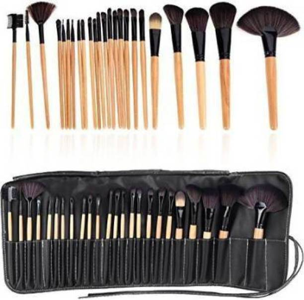 SKINPLUS Makeup Brush Set with PU Leather Case
