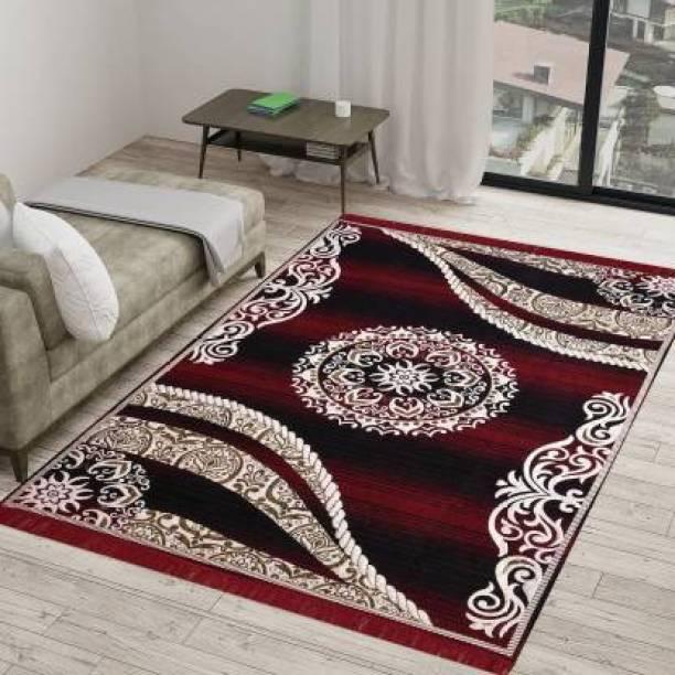 Sasta Sunder Tikau Multicolor Acrylic Carpet