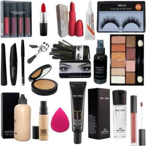 Pindara makeup kit combo -set of 19 (19 Items in the set)