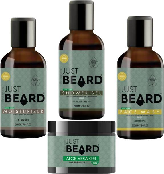 Enorgen JUSTBEARD Natural Ayurvedic All in One Essential Skincare Set For Men