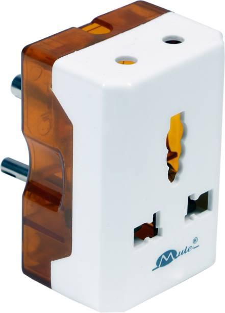 mute Travel Universal 6A -16A Electrical Multi Plug Adaptor Light to Power Electrical Socket Three Pin Plug