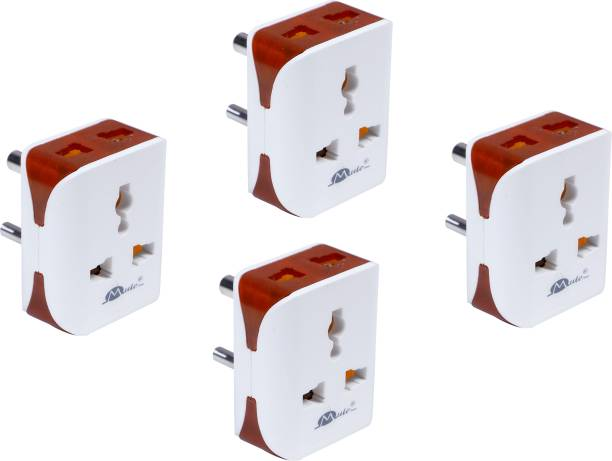 mute Universal Travel Electrical Multi Plug Adapter Electrical Socket ( Pack Of 4) 6 A Three Pin Socket