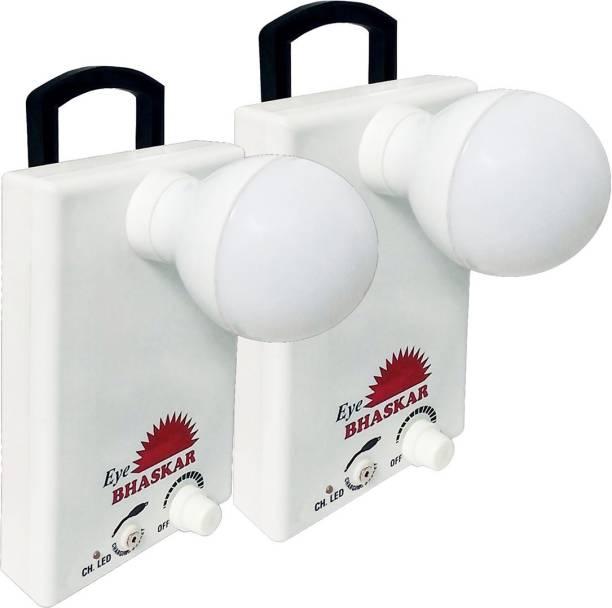 Eye Bhaskar 12 LED Bulb (Set of 2) With Charger Rechargeable Lantern Emergency Light