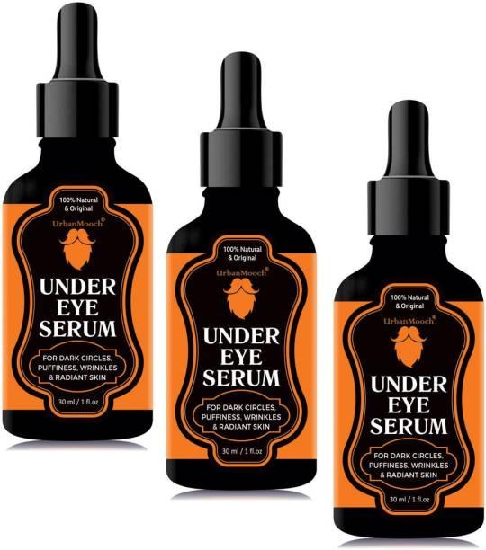 UrbanMooch Under Eye Recovery Serum, Reduces Dark Circles, Puffiness, Wrinkles, & Skin Brightning-30ml-Packof-3-Bottle-