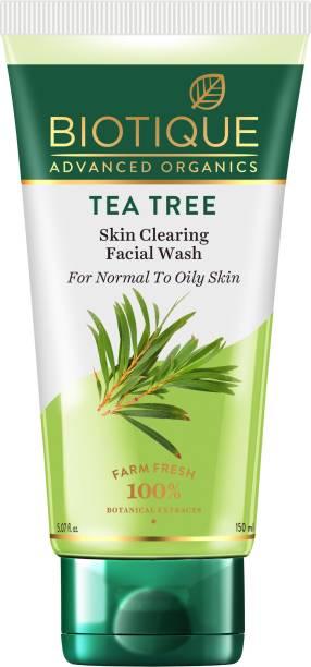 Biotique Advanced Organics Tea Tree Skin Clearing Facial Wash 150ml Face Wash