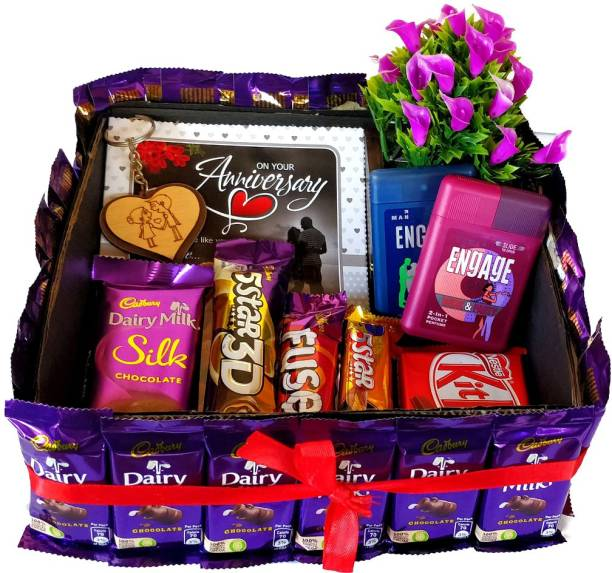 Cadbury Perfect Anniversary Square Shaped Gift Hamper Bouquet Combo