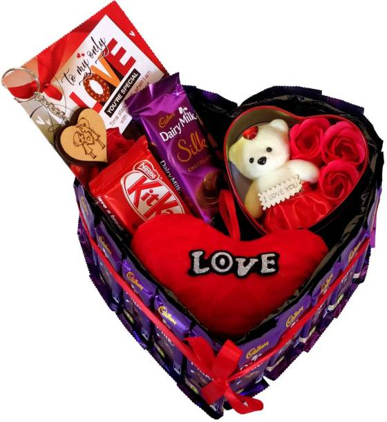 Cadbury Perfect Valentine Gift Hamper Bouquet For Your Love Combo