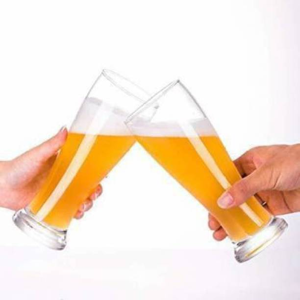 kvira creation (Pack of 4) Kc-(Pack of 4) Juice Mocktail Lassi Glass Set, Party Home & Bar Glass Set (500 ml, Glass) Glass Set