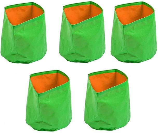 Fabtastic HDPE Grow bags for Home and Terrace Gardening, 12x12 Inches, Pack of 5 Grow Bag