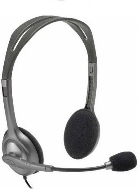 Logitech H110 (981-000214) Wired Headset Black, On the Ear Wired Headset