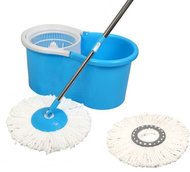 Esquire Elegant Blue 360° Spin Mop Set with Additional Refill Mop