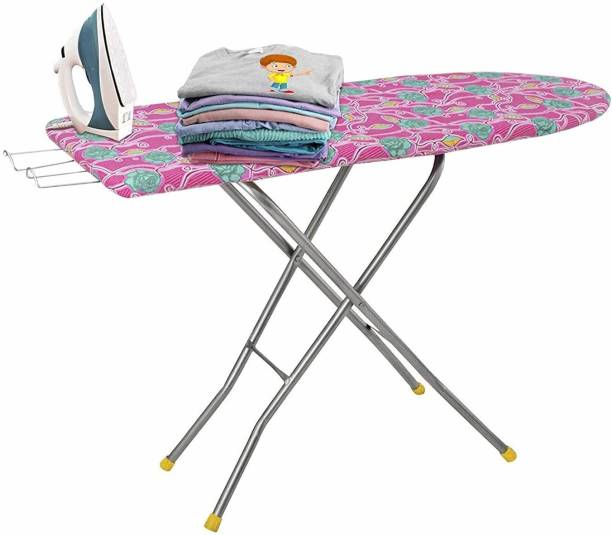 Maanit Wooden Self Standing Ironing Board With Folding Feature Heavy Duty, Multi Color (Color And Design of Cloth Will Different) Ironing Board