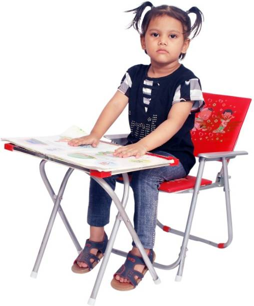 S.S Steelo Art S.S Steelo Art Kids Table and Chair Set Red Solid wood Desk Chair (Finish Color - RED) Metal Desk Chair