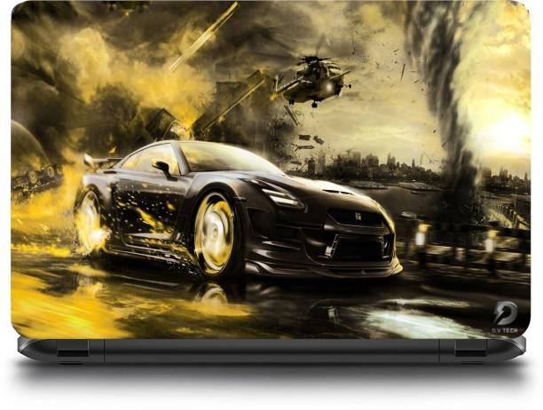 D.V TECH Car Racing Game Winning With Chopper Skin for laptop bubble free laptop skin for 15.6 inch laptop VINYL Laptop Decal 15.6