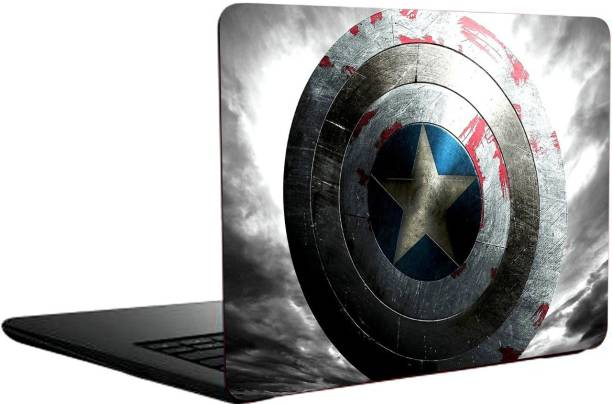Just Rider Captain America Shield Exclusive High Quality Laptop Decal, laptop skin sticker vinyl Laptop Decal 15.6