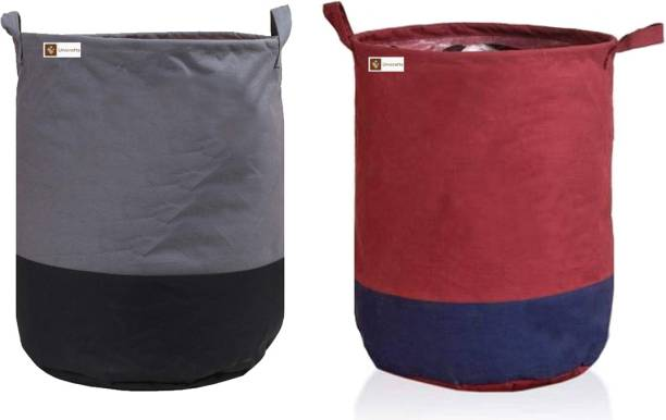 Unicrafts 45 L Grey, Maroon Laundry Bag