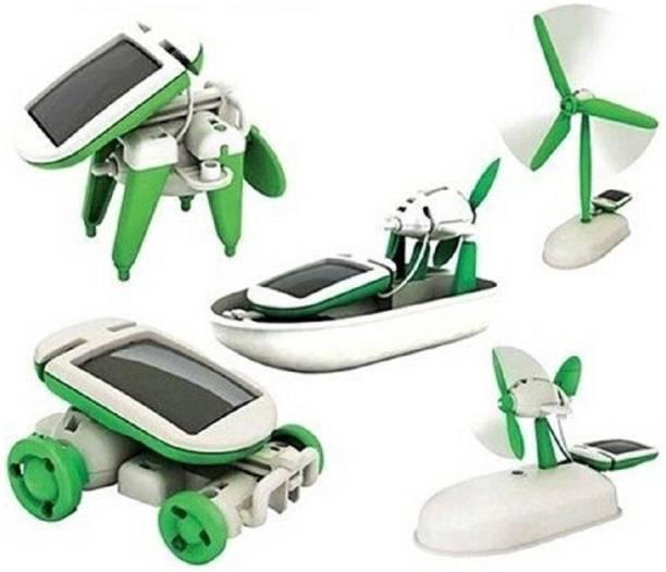 Little Joy Mechanical Educational 6 in 1 Solar Robot Kit Learning Toy for Kids