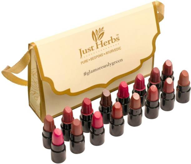 Just Herbs Ayurvedic Lipstick - Micro-Mini Trial Kit