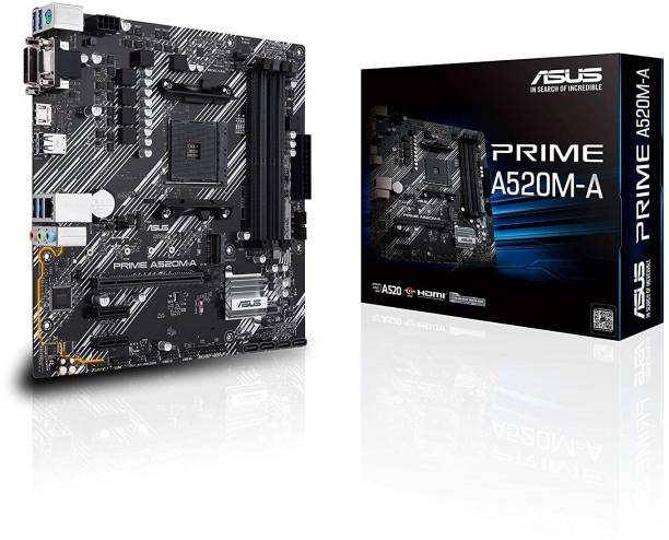 ASUS PRIME-A520M-A AMD AM4 Micro-ATX With 1Gb Ethernet Gaming Motherboard
