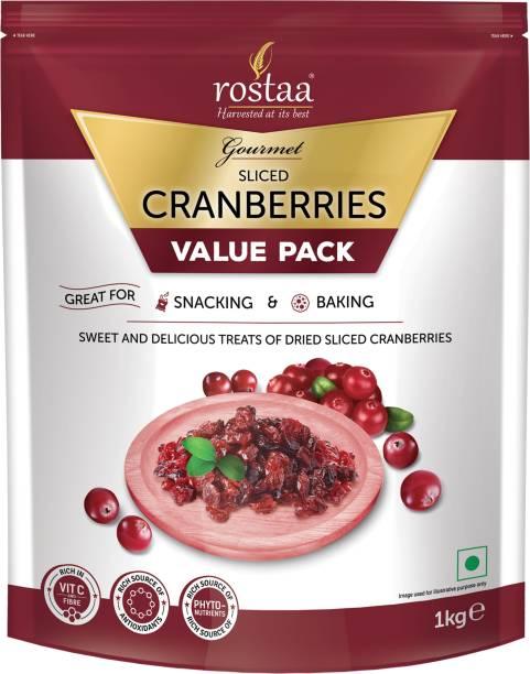 rostaa Cranberries Sliced 1kg Cranberries