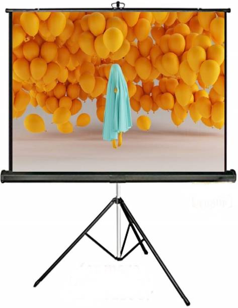 royality Tripod Type Projector Screen 6 Ft.(Width) X 4 Ft.(Height), Comes With Tripod Stand, Supports And Full HDTV Format Projector Screen (Width 84 cm x 44.5 cm Height)