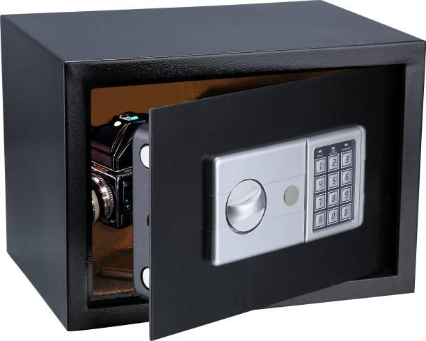 SWAGGERS Digital Electronic Safe Locker/ Safe Box/ Cash Locker, Jewellery Locker/ Storage Locker- with Dual Security Key and password(SIZE-25(H)*35(W)*25(D) CM) Safe Locker