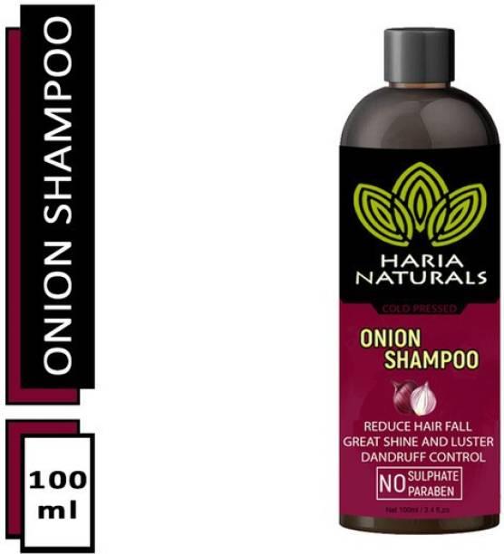 Haria Naturals 100% Pure & Natural Onion Shampoo Reduce Hair Fall, Dandruff Control & Gives Great Shine To Hairs 100ML (Pack Of 1)