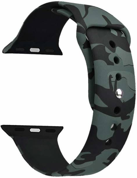 gettechgo Premium Silicone Camaflouge Replacement Strap Band For iWatch 38mm / 40mm Series 6/5/4/3/2/1 Smart Watch Strap