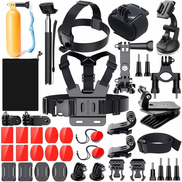 housemate 40 in 1 Mounts and Straps Accessory Kit for GoPro Hero 7/6/5/4/3/2/1/SJCAM Xiaomi Yi Action Camera Strap (Black) Strap
