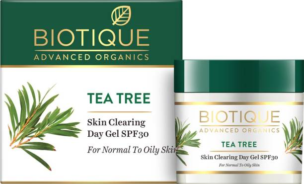 Biotique Advanced Organics Tea Tree Skin Clearing Day Gel SPF30 50gm - SPF 30