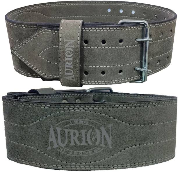 Aurion Durable Comfortable 4'' Inch Wide Weight lifting Gym Belt For Men and Women Back & Abdomen Support