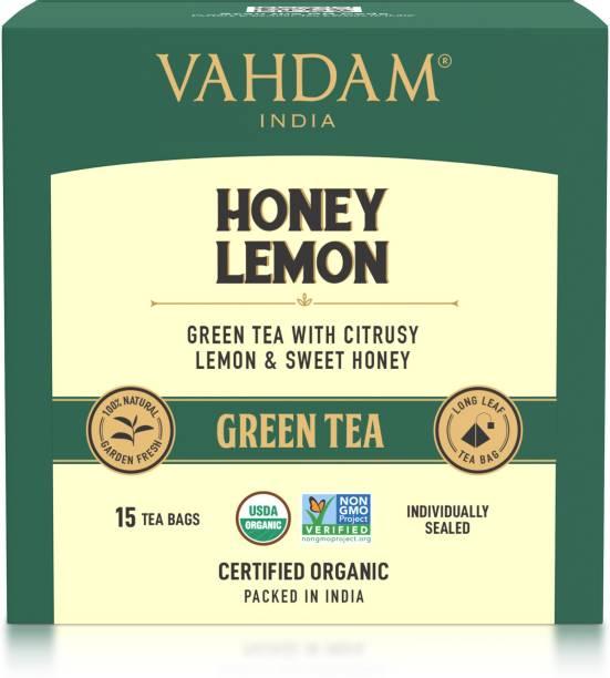 Vahdam Honey Lemon Green Tea Box