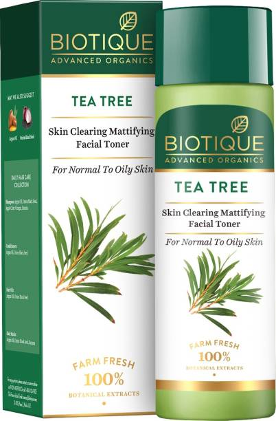 Biotique Advanced Organics Tea Tree Skin Clearing Mattifying Facial Toner 120ml Men & Women