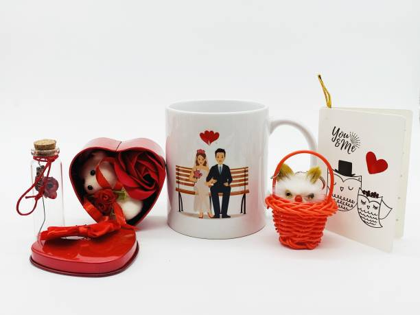WINGS MART Mug, Keychain, Message Pills, Greeting Card, Soft Toy Gift Set