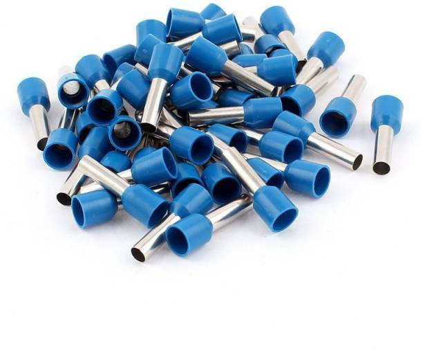 RPI SHOP 2.5 SQMM (E2508) Wire Ferrules Copper Crimp Connectors,Wire Crimping Tool Kit,Insulated Cord Pin End Terminal, Color Blue Pack of 100 Pcs End Terminal Wire Connector