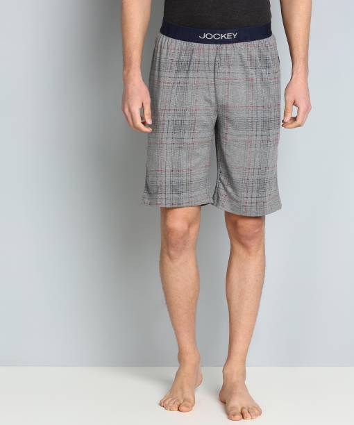 JOCKEY Checkered Men Grey Boxer Shorts