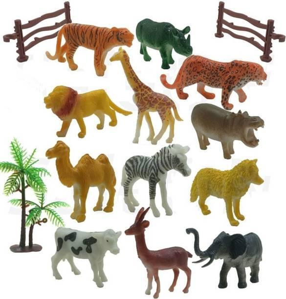 PRESENTSALE Wild Animal Toys for Kids Set Play Safely with Wild Animals Set for Kids , Jungle Animal Set for Kids, Multicolor Jungle Wild Animals