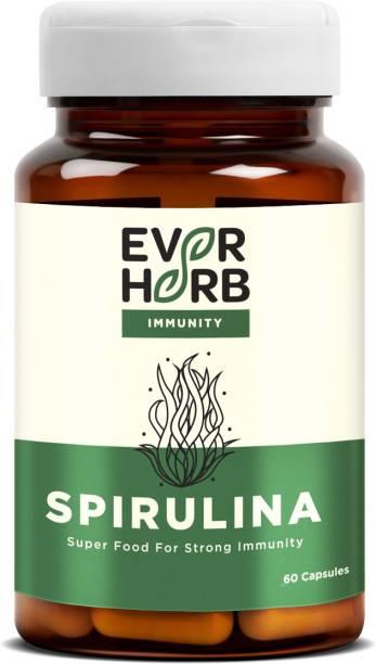 EverHerb Spirulina - High Energy Super Food - Rich In Natural Protein - Bottle Of 60