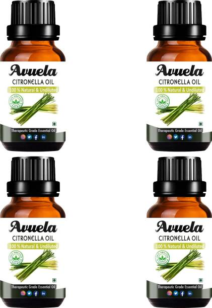 avuela Citronella Essential Oil 100% Pure Natural Essential Oil (30 ml) (Pack of 4)