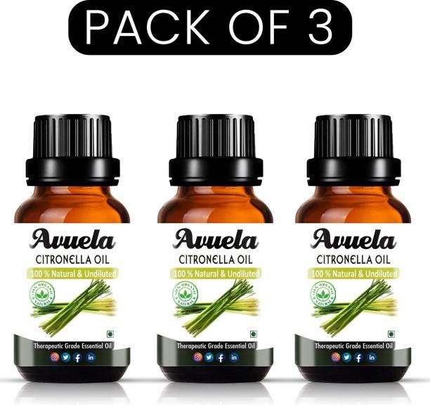 avuela Citronella Essential Oil 100% Pure Natural Essential Oil (30 ml) (Pack of 3)