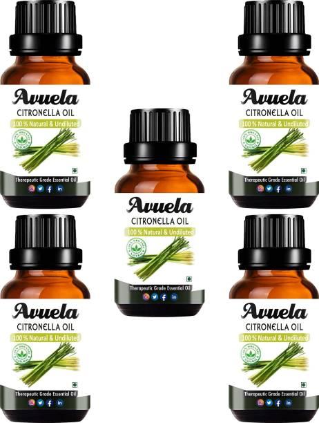 avuela Citronella Essential Oil 100% Pure Natural Essential Oil (30 ml) (Pack of 5)