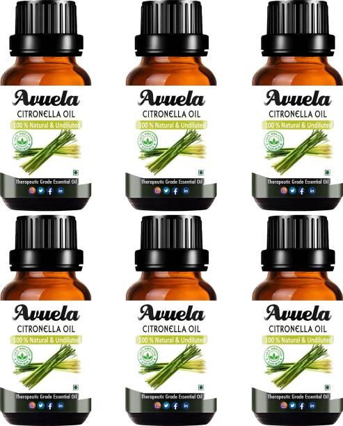avuela Citronella Essential Oil 100% Pure Natural Essential Oil (30 ml) (Pack of 6)