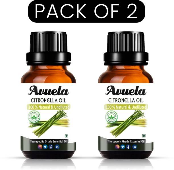 avuela Citronella Essential Oil 100% Pure Natural Essential Oil (30 ml) (Pack of 2)